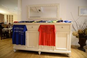 I libri di Tranquillo e Buffa per le magliette benefiche pro admo